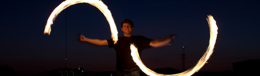 Sunset Fire Spinning by JT Booth